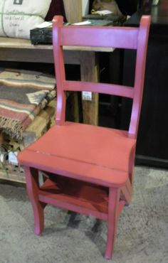 "A chair that turns into steps!  C065 - $88  17""W x 14.5""D x 35.5""H  #NadeauNashville"