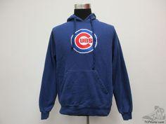Antigua Chicago Cubs Hoody Sweatshirt sz M Medium SEWN Hoodie Baseball MLB Blue #Antigua #ChicagoCubs