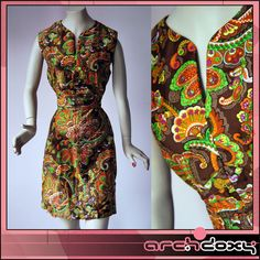 NEW! Vintage 1960s Twiggy Paisley Printed MOD Scooter Brown Mini Dress #vintage #MOD  http://www.ebay.co.uk/itm/Vintage-1960s-Twiggy-Paisley-Printed-MOD-Scooter-Brown-Mini-Homemade-Dress-12-/281985002972?ssPageName=STRK:MESE:IT