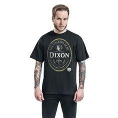 """Classica T-Shirt uomo nera """"Daryl Dixon Label"""" della serie televisiva #TheWalkingDead."""
