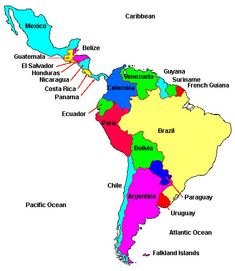 South America Labeled Map South And Central America Map View Full intended for Central America Map Labeled by angga Latin America Map, Central America Map, South America Map, Honduras, Bolivia, Costa Rica, Ecuador, Argentina Map, Continents And Oceans