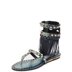 Ivy Kirzhner Barbados Gladiator Sandal ($199) ❤ liked on Polyvore