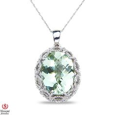 Ebay NissoniJewelry presents - Ladies Green Amethyst Pendant and chain in Sterling Silver    Model Number:P8210-SIGAM    http://www.ebay.com/itm/Ladies-Green-Amethyst-Pendant-and-chain-in-Sterling-Silver/321857632946