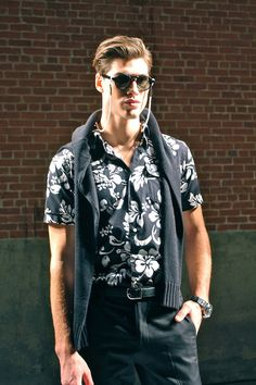 Hot model and dope eyewear at #NYFW presentation by Ovadia and Sons SS14 | VeeTravels.com  #menswear #fashion #style #mbfw