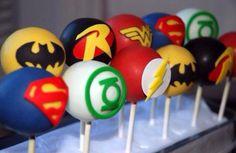 Superhero cake-pops