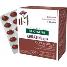 Klorane - Quinine KERATIN caps Συμπλήρωμα Διατροφής για Δυνατά Μαλλιά & Νύχια - 30 caps