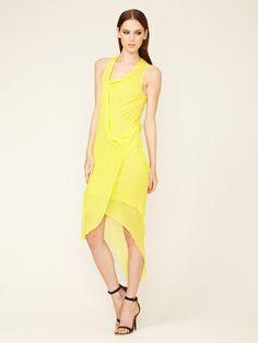 Helmut Lang Film Jersey Asymmetrical Dress