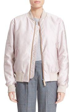 Acne Tyson baby pink bomber jacket
