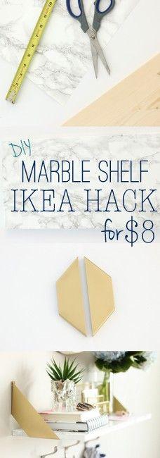 DIY Marble Shelf – IKEA HACK
