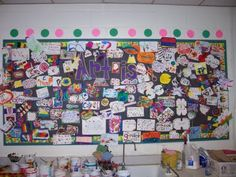 """What is Art""?  Bulletin board that all students contribute a piece too."