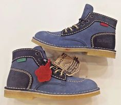 #Vintage #Kids #Rain #Snow #Boots Limited Edition #Kickers Winter Boys Shoes LEATHER #Kickers #VintageBoots