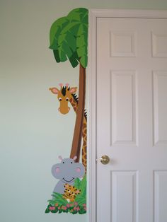 This cute little door hugger is only available at www.elephantsonthewall.com It's a Paint-by-Number mural that is super easy to do and you can repeat it, reverse it and even change the colors. What a fun and easy project! #elephantsonthewall