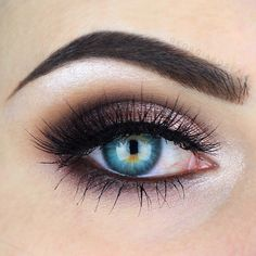 rose gold and plum smokey eye ~ we ❤ this! moncheriprom.com