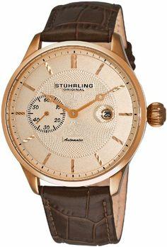 Stuhrling Original Men's 148B.3345K14 Classic Heritage Automatic Mechanical Date Rose Tone Watch