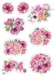 Яндекс.Картинки: поиск похожих картинок Journal Stickers, Scrapbook Stickers, Planner Stickers, Scrapbook Paper, Printable Stickers, Cute Stickers, Decoupage Printables, Floral Banners, Scrapbook Borders