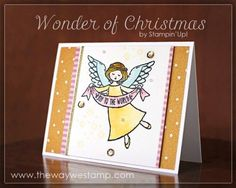 Wonder of Christmas by Stampin' Up! http://www.thewaywestamp.com #wonderofchristmas…