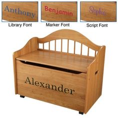 KidKraft Personalized Limited Edition Toy Box Natural Brown - W14121-5 $169.99