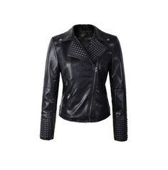Women's Faux Leather Black Punk Jacket