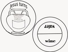 Jesus turns water into wine       This was a fun and pretty simple craft to do for this lesson.  I'll include a jpeg of the page I made...