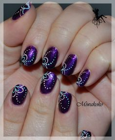 Very pretty purple nails