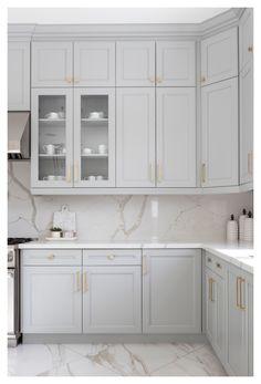 Grey Kitchen Designs, Kitchen Room Design, Kitchen Cabinet Design, Kitchen Redo, Modern Kitchen Design, Home Decor Kitchen, Interior Design Kitchen, Home Kitchens, Kitchen Remodel
