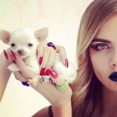 Instagram-Inspired Editorials - Cara Delevingne by Nick Knight Playfully Poses with Baby Pets (GALLERY)