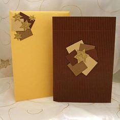#christmas #card #handmade #artozpaper #brown #beige #gold #stars Gold Stars, Brown Beige, Gift Wrapping, Christmas, Handmade, Gifts, Gift Wrapping Paper, Xmas, Hand Made