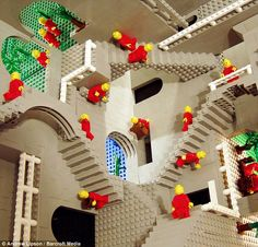 Mathematician uses thousands of Lego bricks to recreate Escher's gravity-defying images