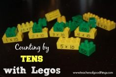 Counting by Tens with Legos www.teachersofgoodthings.com