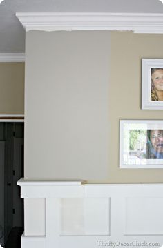 Anew Gray and Analtyical Gray paint colors by Sherwin Williams Grey Paint Colors, Wall Colors, House Colors, Gray Paint, Neutral Paint, Interior Paint Colors For Living Room, Paint Colors For Home, Anew Gray Sherwin Williams, Family Room Colors