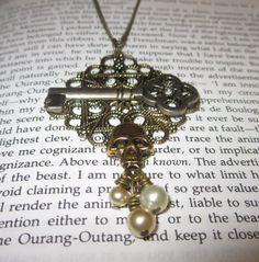Vintage Skeleton/Skull Necklace
