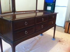STAG 6 drawer dressing table before.