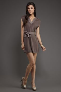 Casual, comfy dress on sale for $36 (from 119) on Hautelook #dress #bow #brown