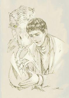 Camelot Drabble Week 7 prompt: Family by mushroomtale. Merlin Series, Merlin Fandom, Merlin Cast, Merlin Dragon, Merlin Colin Morgan, Merlin And Arthur, Fanart, Superwholock, Fantastic Beasts