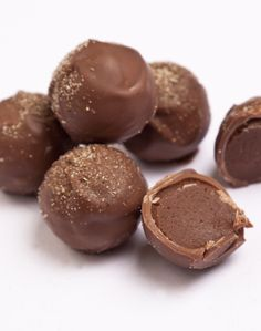 Gingerbread Spice Truffles - The treacle in this chocolate and ginger truffle recipe gives these chocolates a heady depth of flavour, perfectly encapsulating the wintery taste of gingerbread.