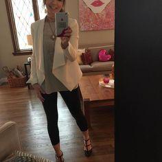 Saturday night w la familia ❤🍷💋 #ootd #whitejacket #joie #fashionista #vince accessories #necklaces #s#leather #shiny #sidepony #rockstuds #fashion #style #personalshopper #personalstylist #style #dressup #letsgoshopping #retailtherapy #glow #smile @glowbymary @bcbgmaxazria @emilyhsudesigns @maisonvalentino @joie @vince @bazaarstarbeadery @nelund_minton