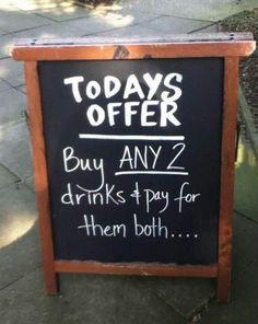 Actual bar sign...lol