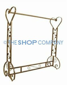 Free Standing Decorative Antique Bronze Iron Garment Coat Rack