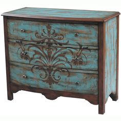 @Overstock.com - Hand-painted Distressed Walnut and Blue Finish Accent Chest - Introduce some traditional charm into your home's decor with this distressed accent chest. With its lovely hand-painted design and antiqued brass hardware, this chest will quickly become a focal point. Three drawers allow for convenient storage.   http://www.overstock.com/Home-Garden/Hand-painted-Distressed-Walnut-and-Blue-Finish-Accent-Chest/7728554/product.html?CID=214117 $578.99