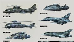 concept ships: Concept ships by Feng Guo