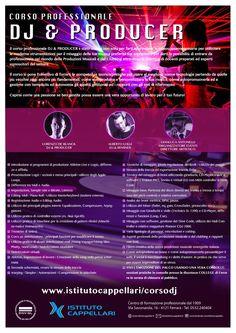 #volantino #depliant #flyer progettazione  #grafica per #corso #dj e #producer #Ferrara