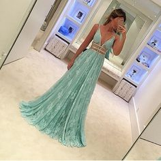 Prom Glam-Love this dress! On trend color and style 2017
