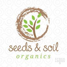 Seeds and Soil - plant logo Social Constructivism, Sweet Logo, Lawn Care Business, Plant Logos, Make Your Logo, Logo Color, Social Media Design, Logo Design, Typography