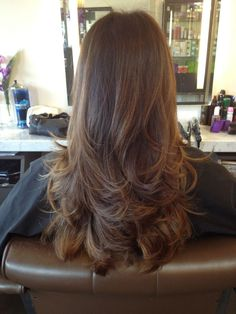 Long, brown hair with layered ends. on The Fashion Time http://thefashiontime.com/beautifully-layered-haircuts-for-all-lengths-and-textures/#sg20