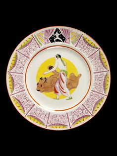 1933 Laura Knight plate Laura Knight Circus Design Plate (United Plate The lion and Tamer, Produced in Bizarre by Clarice Cliff for the 1935 Harrods Exhibition. Bloomsbury Group, Clarice Cliff, Virginia Woolf, Contemporary Ceramics, Ceramic Pottery, Painting & Drawing, Art Decor, United Kingdom, Knight