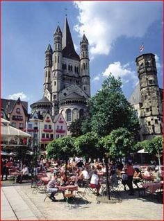 "Koeln, Germany  (In America, we call this city ""Cologne."")"