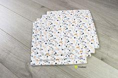 Lot de 4 essuie-touts lavables et réutilisables motif arc en ciel Creation Couture, Pattern