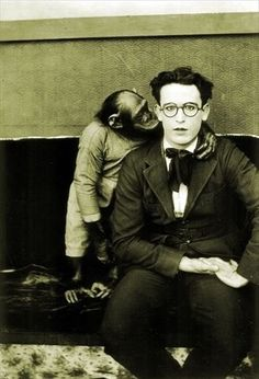 harold lloyd and friend