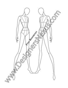 020- female fashion pose three-quarter view croqui - FREE download and more croquis in Illustrator & .png at designersnexus.com!