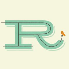 color and illustrative letterform